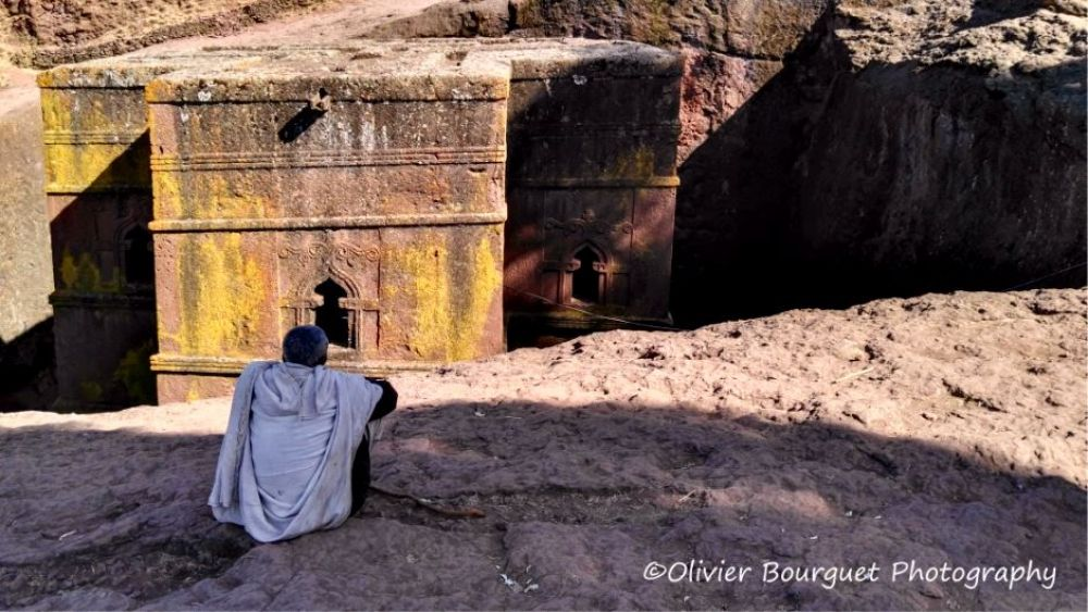 Photo d'une église rupestre à Lalibela