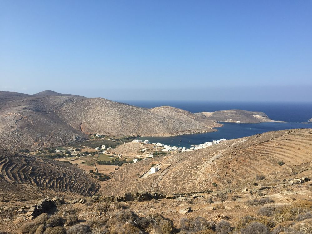 Voyage à pied : Les Cyclades : Andros et Tinos