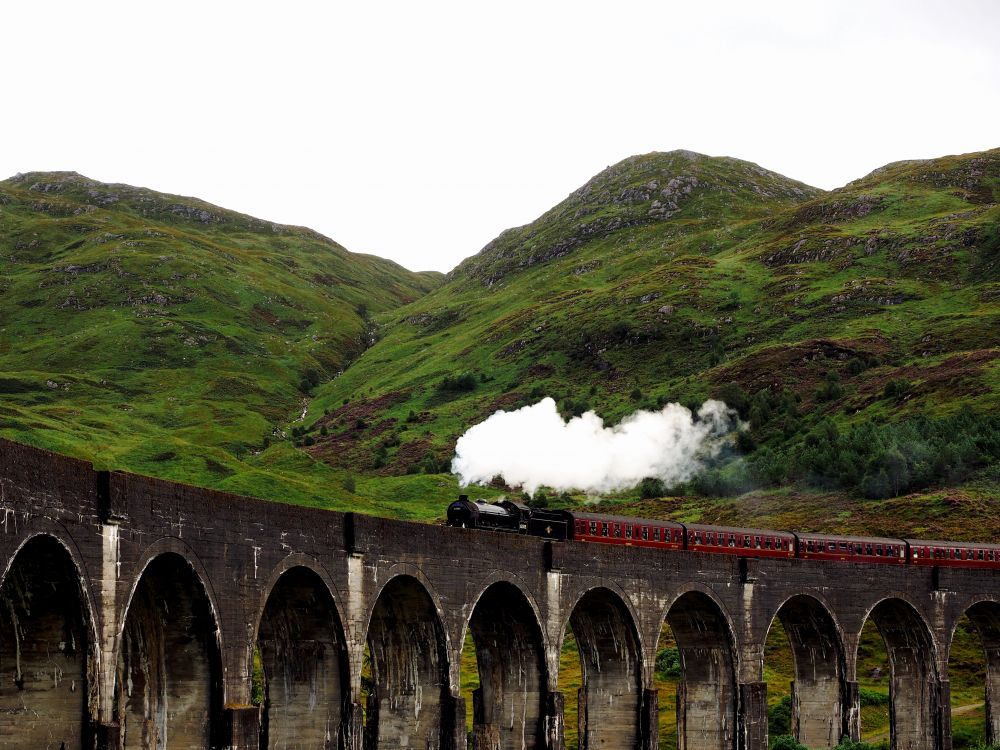 Le Jacobite Steam train Harry Potter