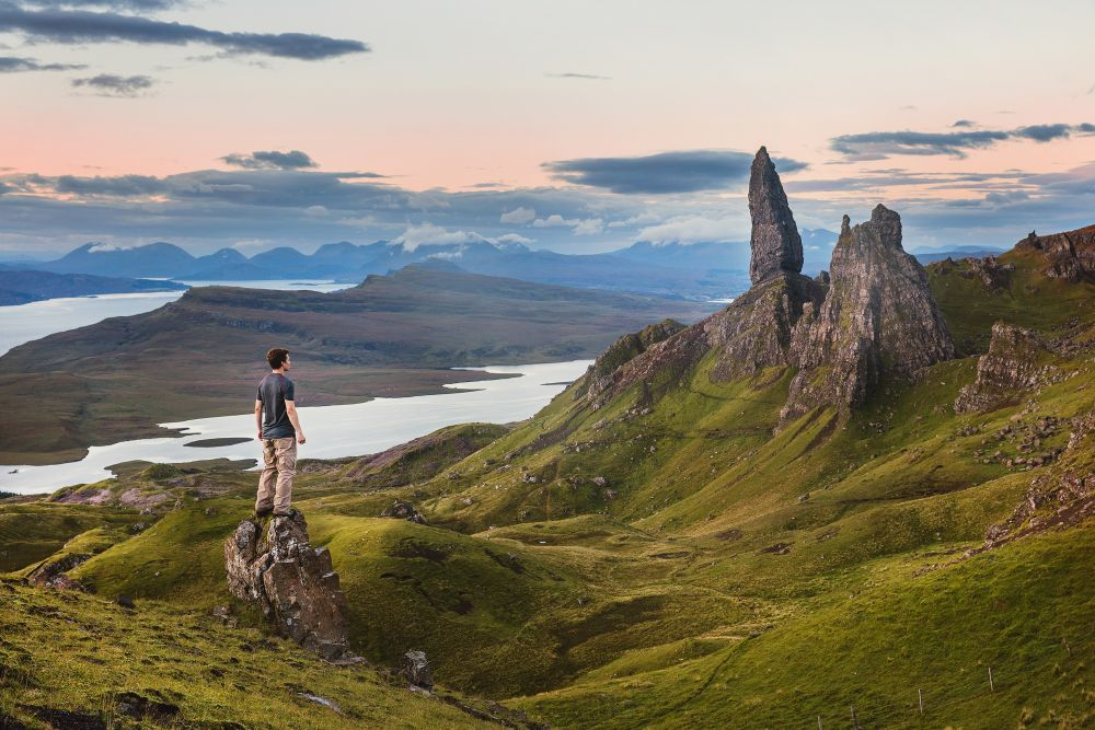 randonneur old man of Storr ile de skye