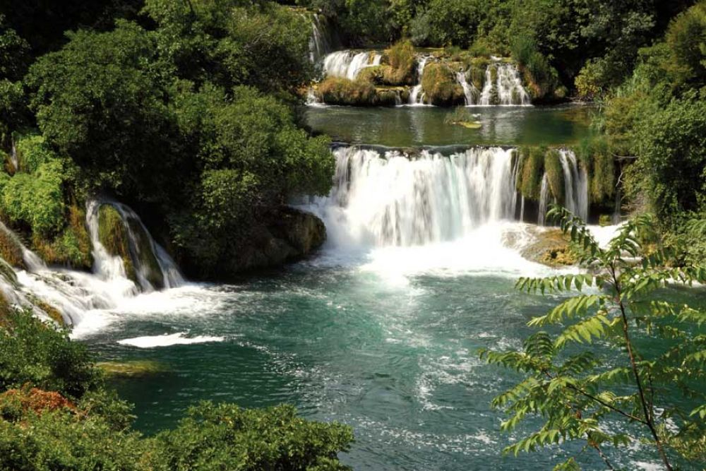 Photo d'une cascade en Croatie